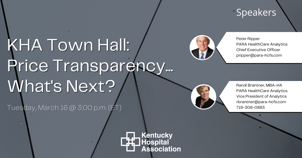 Price Transparency Town Hall - March 16, 2021